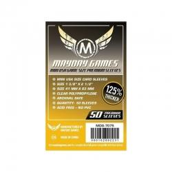 Premium Mini USA Sleeves 41 X 63 MM (50 pack) (Dark Yellow)