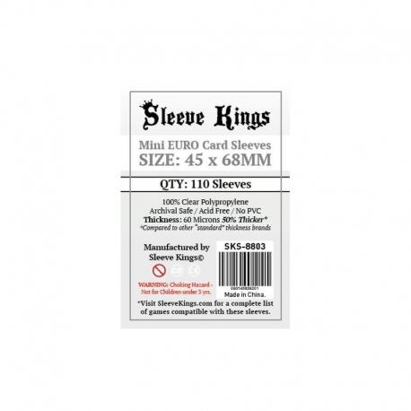 FUNDAS SLEEVE KINGS CARD GAME CARD SLEEVES (45X68MM)